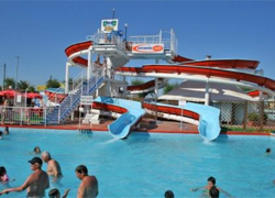 Aquapark's attractions and installations